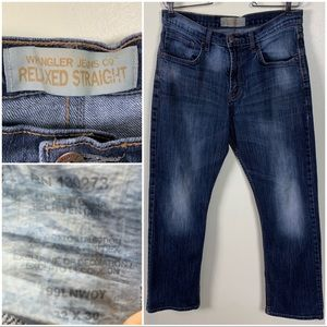 Wrangler Jeans 32x30 Relaxed Straight Denim Jeans